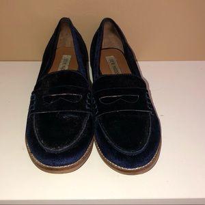Steve Madden Velvet Loafers - Blue size 8.5